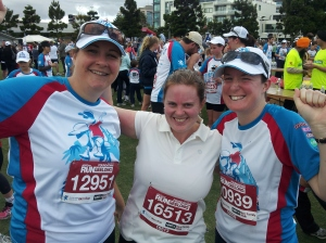 My running partner Caz, good friend Ruth and me after the Run Geelong event in November.